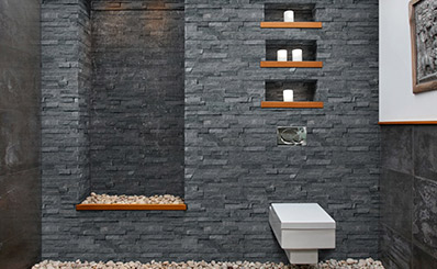 Ledger Panels Stacked Stone Mosaics Stacking Stone