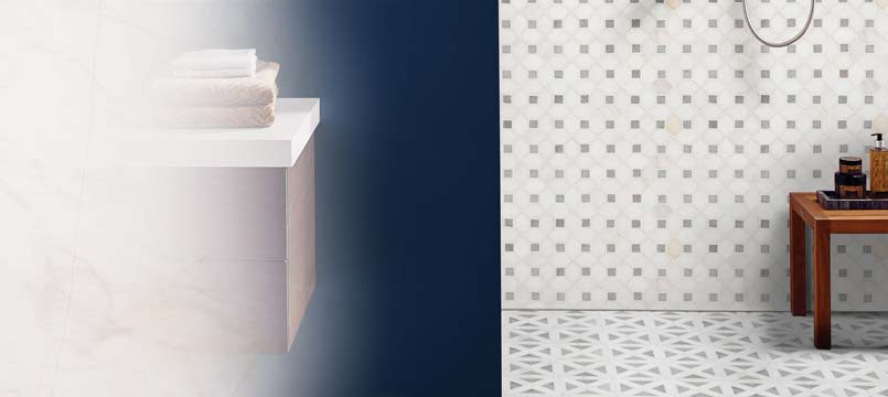Bianco Dolomite Mosaic Tile Backsplash