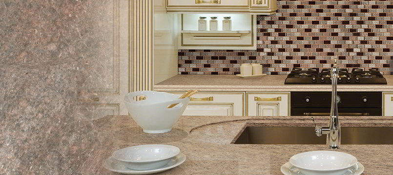 Copper Mosaic Tile Backsplash