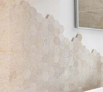 Coastal Sand Mosaic Tile Backsplash
