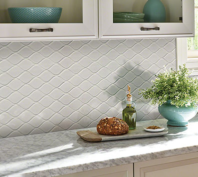 Domino Mosaic Tile Backsplash