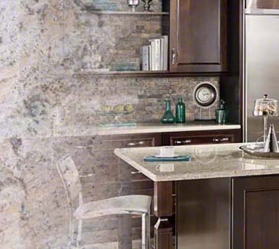 Silver Travertine Mosaic Tile Backsplash