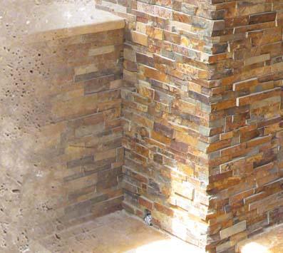 Tuscany Walnut Mosaic Tile Backsplash