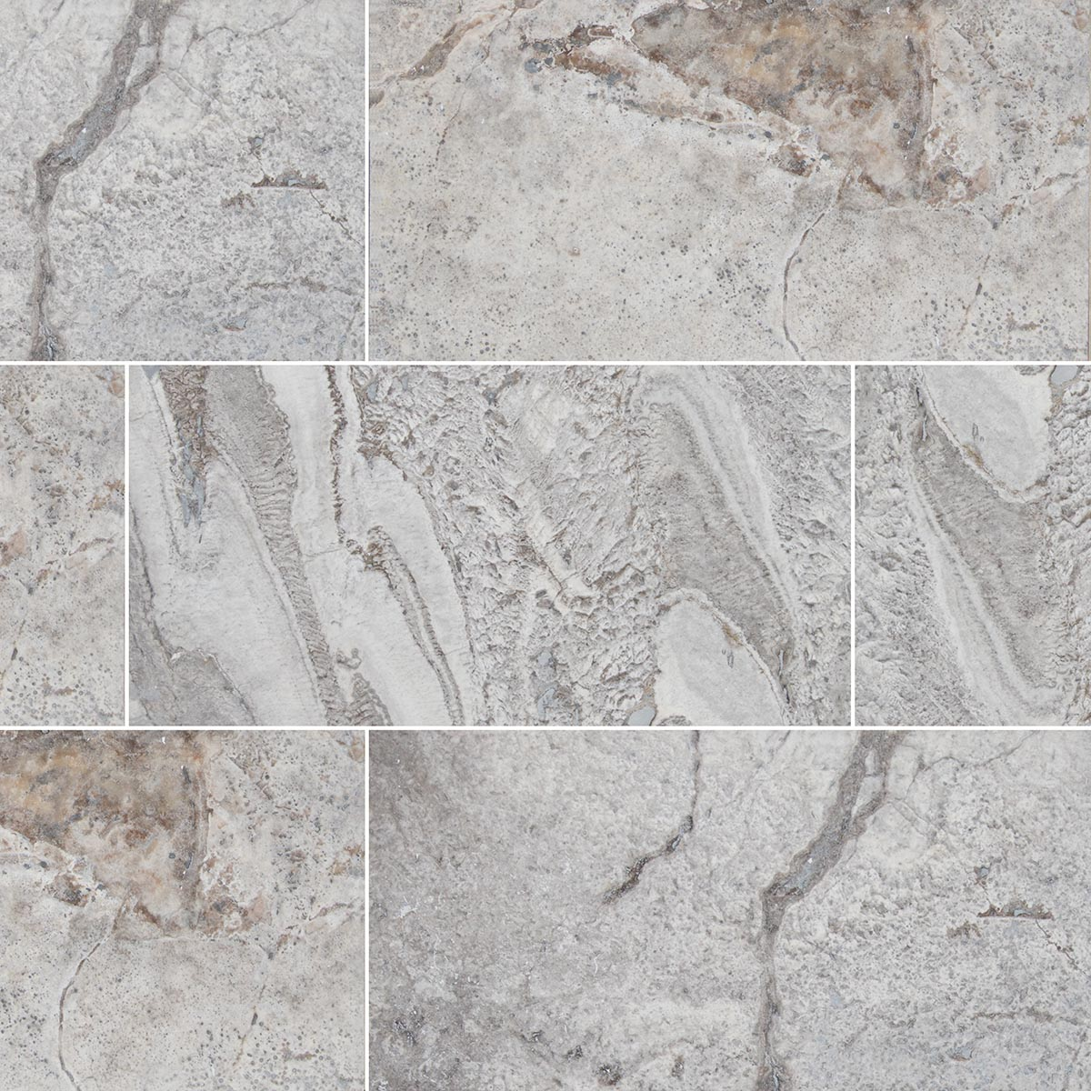 Silver Shadow Travertine Tile