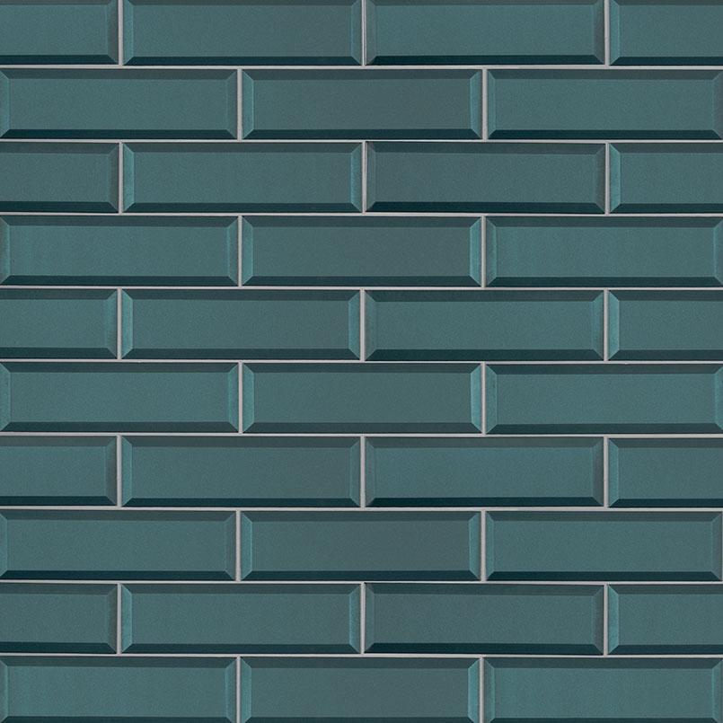 Verde Azul Subway Tile Beveled Subway Tile Collection