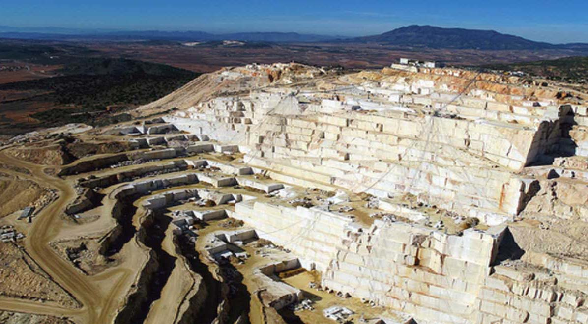 Marble Tile Crema Marfil Quarry Mount Coto, Spain