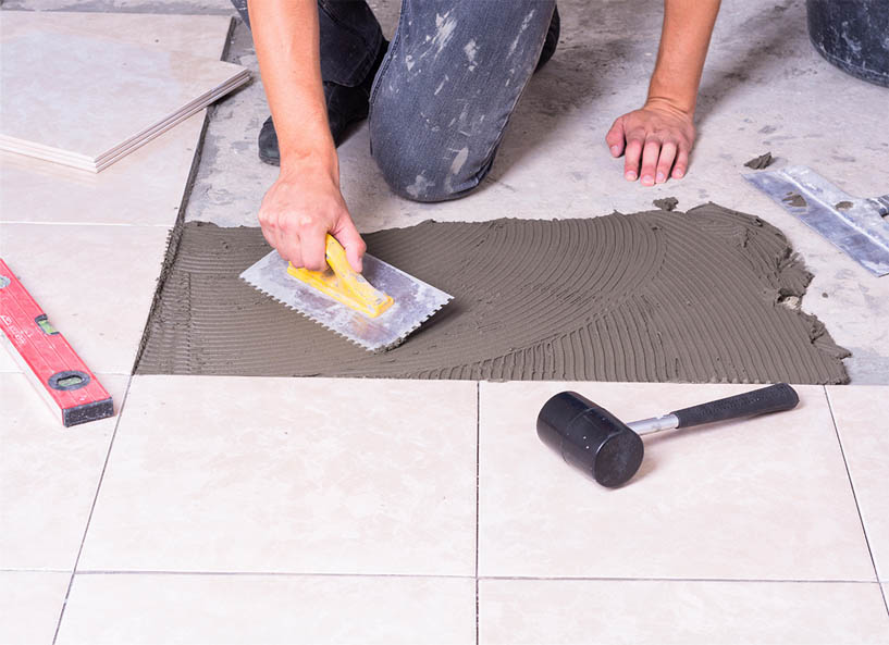 The Following Procedure Is For Installation Of Natural Stone Travertine Tile Flooring It May Be Used Over Any Wood Or Cement Floor That