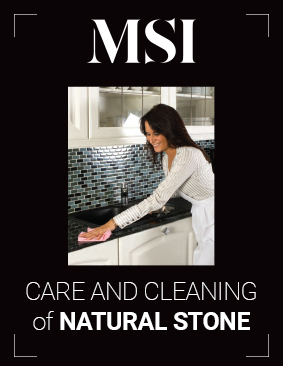 Care and Cleaning of Natural Stone