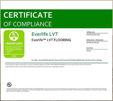 Greenguard Gold Certificate