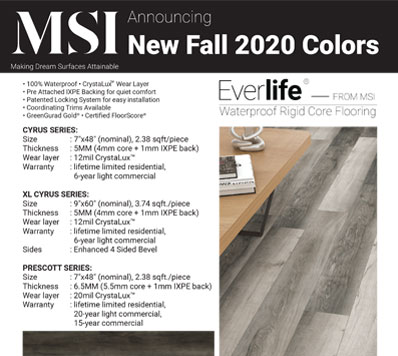 NEW LVT COlORS