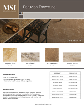 Peruvian Travertine