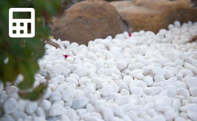 hardscaping pebbles calulator
