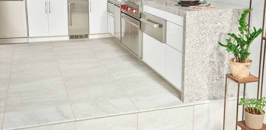 Arterra® Porcelain Pavers outdoor kitchen