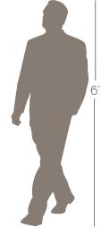 6 foot man illustration