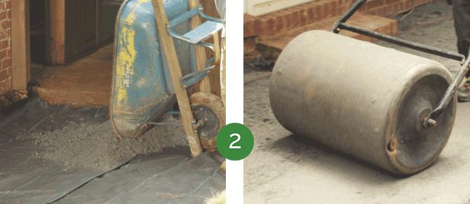 Sandset installation step 2