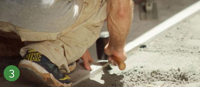 Sandset installation step 3