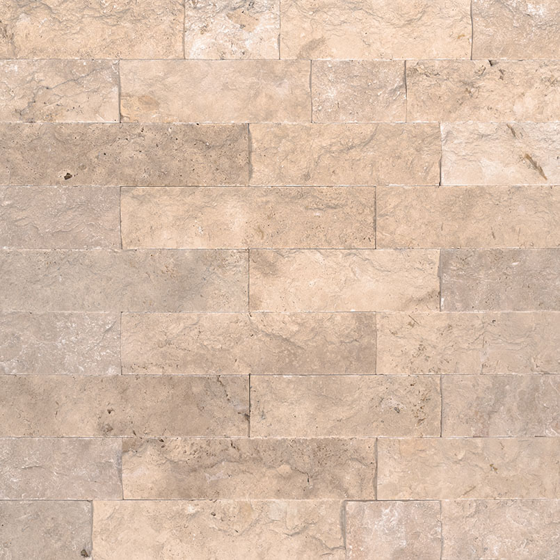 Beige Travertine Natural Stone Veneers for cladding and walls