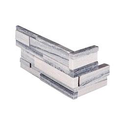 Alaska Gray 3D Honed RockMount Stacked Stone Panels 6x12x6 Corner