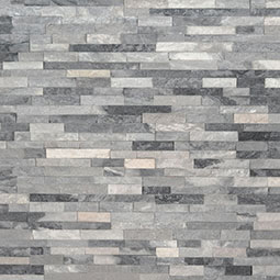 Alaska Gray Mini Stacked Stone Panels Sealed Enhanced