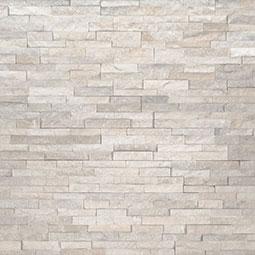 Arctic White Mini Stacked Stone Panels Sealed Enhanced