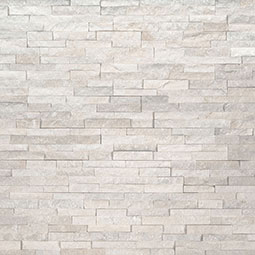 Arctic White Mini Stacked Stone Panels
