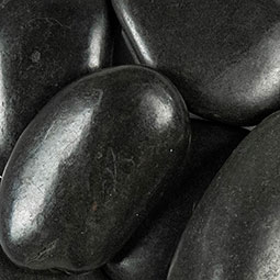 Black Polished Beach Pebbles For Landscaping Rock