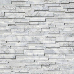 Calacatta Cressa 3D RockMount Stacked Stone Panels Product Page