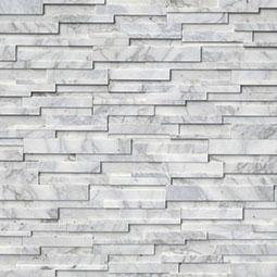 Calacatta Cressa 3D RockMount Stacked Stone Panels