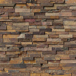 California Gold Stacked Stone Wall Tile