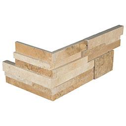 Casa Blend 3D Honed RockMount Stacked Stone Panels 6x12x6 Corner