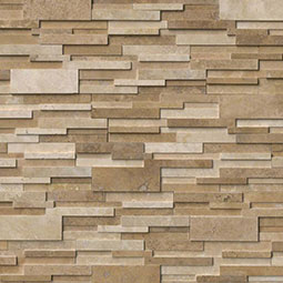 Casa Blend 3D Honed RockMount Stacked Stone Panels