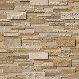 Casa Blend 3D Multi Finish RockMount Stacked Stone Panels
