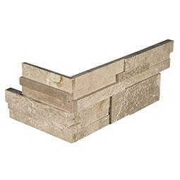 Durango Cream 3D Honed RockMount Stacked Stone Panels 6x12x6 Corner