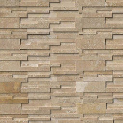 Durango Cream 3D Honed RockMount Stacked Stone Panels