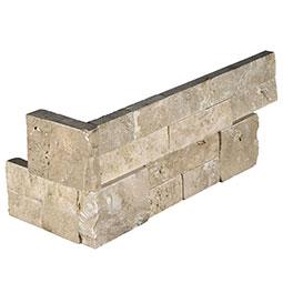 Durango Cream RockMount Stacked Stone Panels 6x12x6 Corner