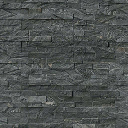 Glacial Black RockMount Stacked Stone Panels