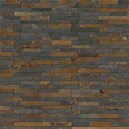 Gold Rush Mini Stacked stone panels Sealed Enhanced