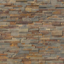 Gold Rush RockMount Stacked Stone Panels