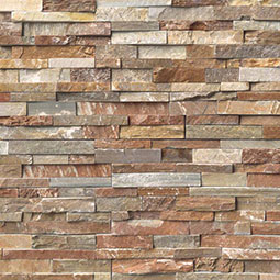 Golden White RockMount Stacked Stone Panels