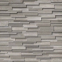Gray Oak 3D Honed RockMount Stacked Stone Panels