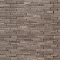 Gray Oak 3D Mini Stacked Stone Panels Sealed Enhanced