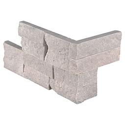 Iceland Gray RockMount Stacked Stone Panels 6x24 Corner