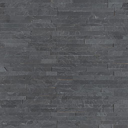 Premium Black Mini Stacked Stone Panels