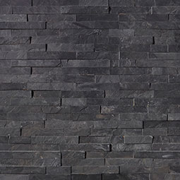 Premium Black Stacked Stone Panels