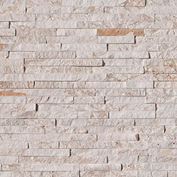 Royal White Stacked Stone Panels Seamless Tile Flooring