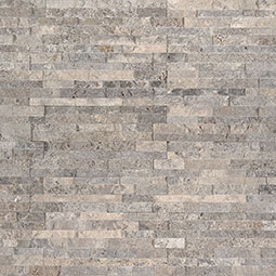 Silver Travertine Mini Stacked Stone Panels