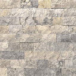 Silver Travertine Stone Veneer Panels