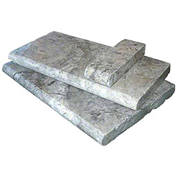 Silver Trav Pool Coping 4x12x2
