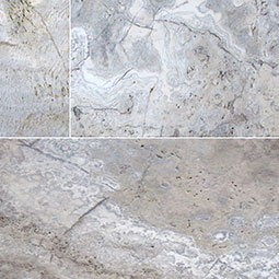 Silver Travertine 6x12x3cm Tum Pavers
