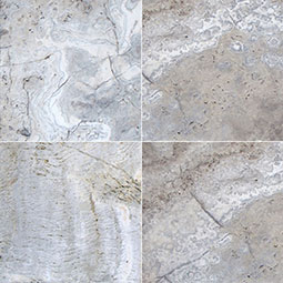 Silver Travertine 24x24x3cm Tum Pavers